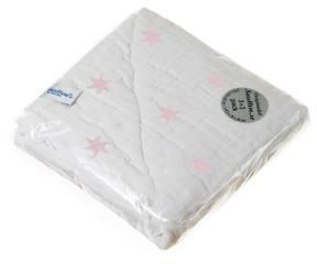 Blanket White/Pink Star 6p