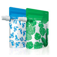 Cherub Baby Foodpouches Blue/Green (10p) 12p