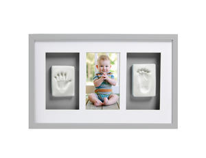 Babyprints Deluxe Wallframe Triple Grey 6p