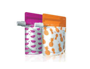 Cherub Baby Foodpouches Pink/Orange (10p) 12p