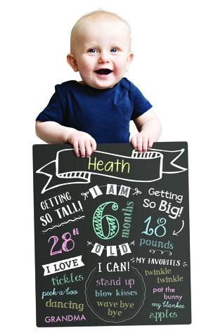 All About Baby Chalkboard 6p