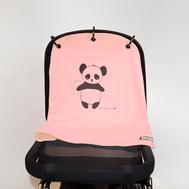 Baby Peace Barnvagnsgardin Panda Rosa 1p
