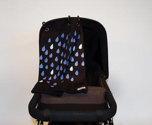 Baby Peace Stroller curtain Drops Black/Blue 1p