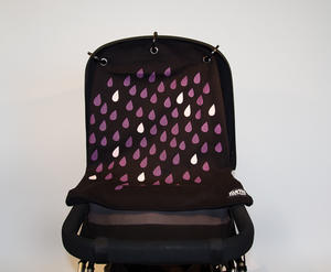 Baby Peace Stroller curtain Drops Black/Purple 1p