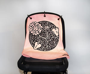 Baby Peace Stroller curtain Jungle Pink 1p