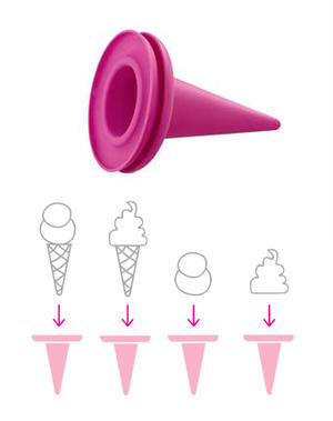 Cillicone Glasstrut Pink 4p