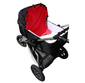 Barnvagnsdraperi Röd 5-p