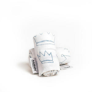 Snuttefilt AddBaby® Blå kronor 4p